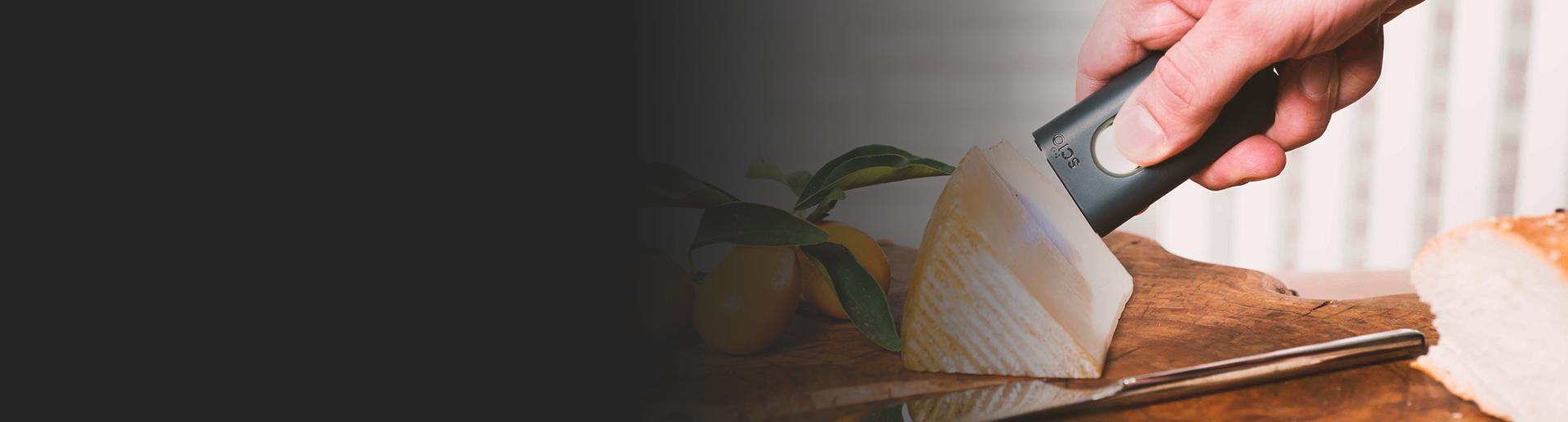SCiO Molecular Sensor scanning cheese